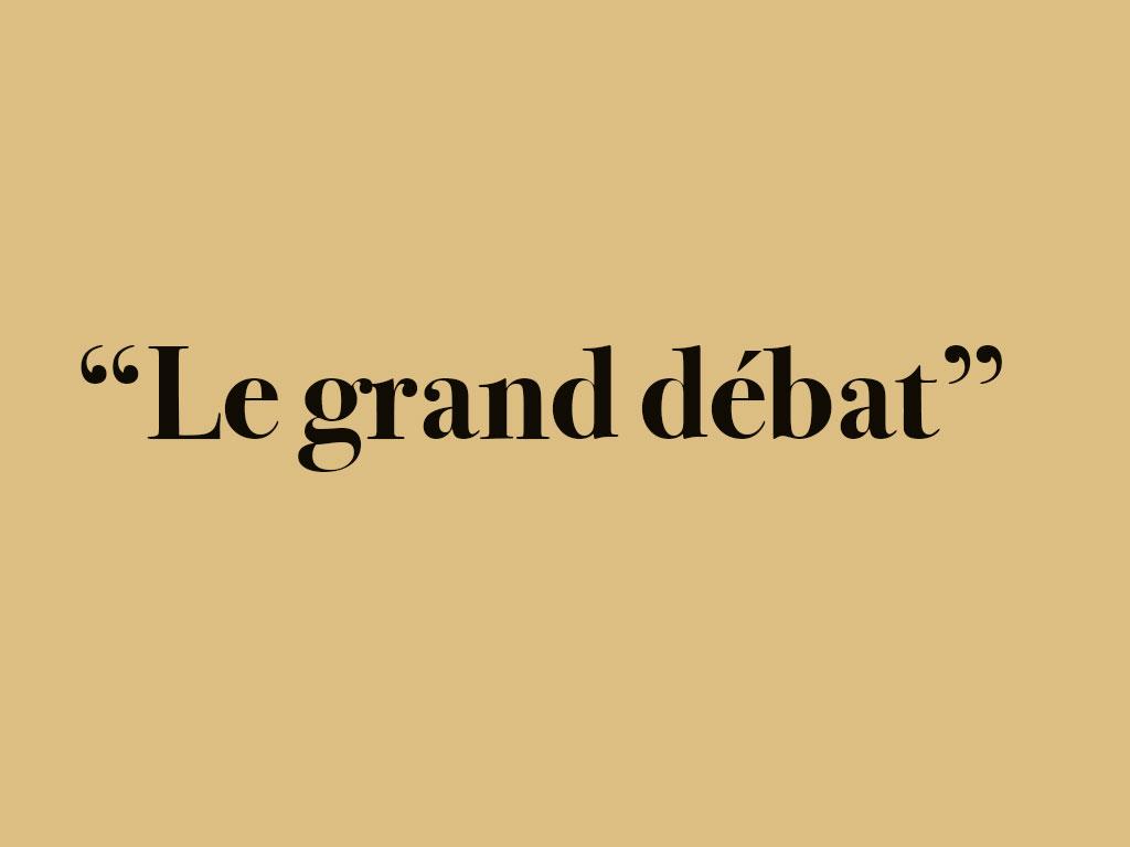 Le grand débat, prédication du pasteur jean-Marie de Bourqueney
