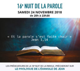 «16e Nuit de la Parole»